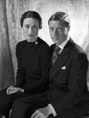The Duke and the Duchess of Windsor, Prince Edward with Wallis Simpson Stretched Canvas Print