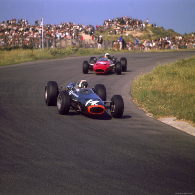 1966 Dutch Grand Prix, Jackie Stewart in BRM Stretched Canvas Print
