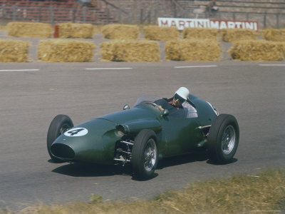 Roy Salvadori Driving Aston Martin in Dutch Grand Prix at Zandvoort Stretched Canvas Print