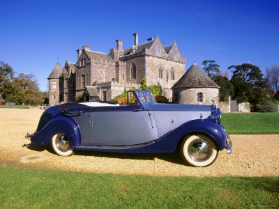 1948 Rolls Royce Silver Wraith with Hooper Coachwork at Beaulieu Stretched Canvas Print