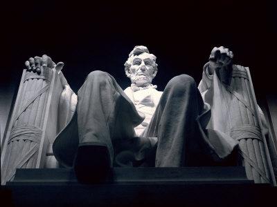 The Lincoln Memorial Statue. Abraham Lincoln Statue Inside