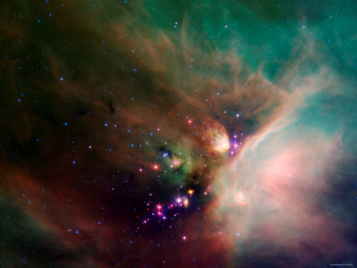 Rho Ophiuchi Nebula Stretched Canvas Print