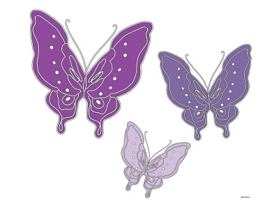 Purple Butterfly Stretched Canvas Print