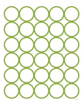 Green Circles Stretched Canvas Print