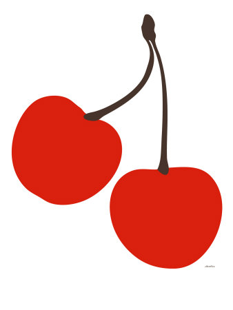 Cherry Stretched Canvas Print