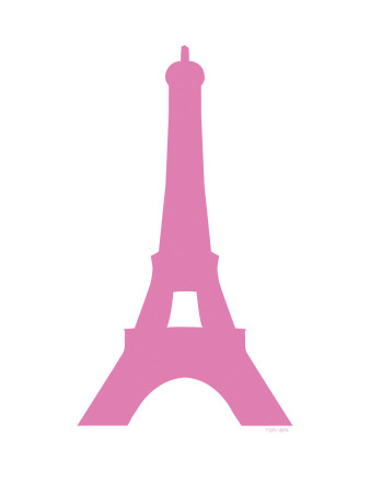 Pink Eiffel Stretched Canvas Print