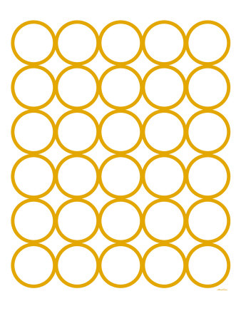 Yellow Circles Stretched Canvas Print