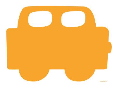 Orange Car Stretched Canvas Print