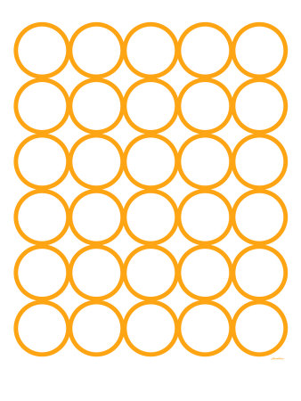 Orange Circles Stretched Canvas Print