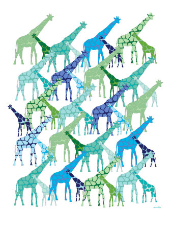 Cool Giraffe Pattern Stretched Canvas Print