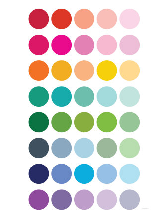 Rainbow Dots Stretched Canvas Print