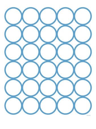 Blue Circles Stretched Canvas Print