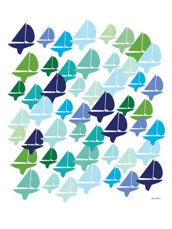 Cool Fleet Stretched Canvas Print