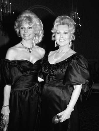 Loni Anderson and Zsa Zsa Gabor Stretched Canvas Print