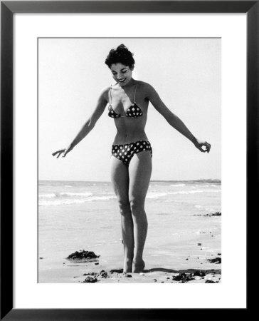 polka dot bikini 1950s framed