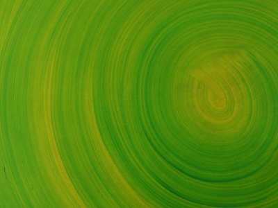 Green Background with Circular Striations Stretched Canvas Print