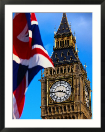 london england flag. London, England Framed