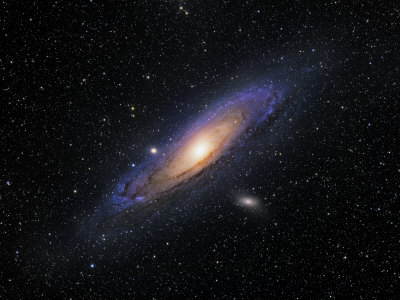 Andromeda Galaxy Stretched Canvas Print