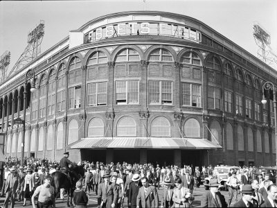 Fans Leaving Ebbets Field after Brooklyn Dodgers Game. June, 1939 Brooklyn, New York Stretched Canvas Print