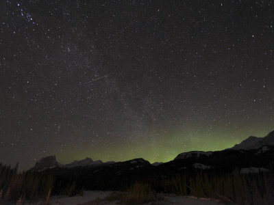 Quadrantid Meteor Shower, Milky Way and Aurora Photographic Print. zoom. view in room