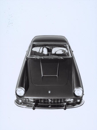 Frontal and Top View of a Ferrari Automobile Stretched Canvas Print