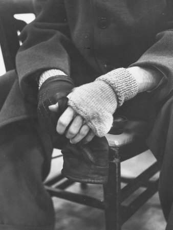 Pianist Glenn Gould in Fingerless Gloves Worn to Keep Hands Supple, Columbia Recording Studio Stretched Canvas Print