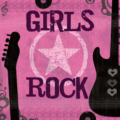 Image result for cartoon images of girls rock