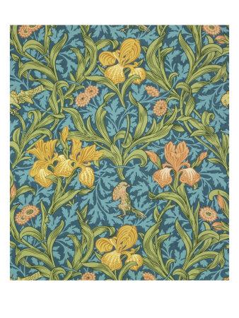 wallpaper paper. Iris Wallpaper, Paper, England