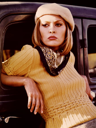 Bonnie and Clyde, Faye Dunaway, 1967 Stretched Canvas Print