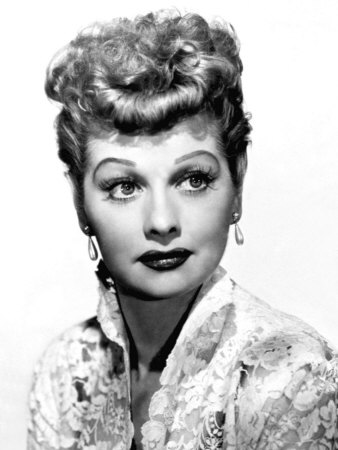Portrait of Lucille Ball Stretched Canvas Print