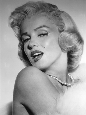 Marilyn Monroe, Mid 1950s Stretched Canvas Print