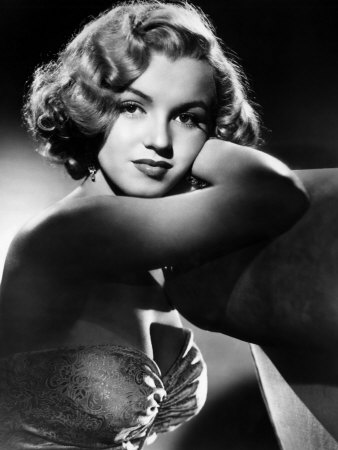 All About Eve, Marilyn Monroe, 1950 Stretched Canvas Print