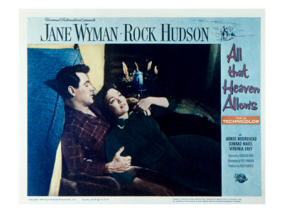 all that heaven allows  rock hudson  jane wyman  1955 premium poster