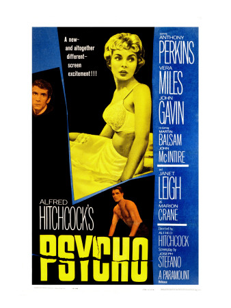 Psycho, Anthony Perkins, Janet Leigh, John Gavin, 1960 Stretched Canvas Print