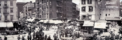 Little Italy, a Scene in the Ghetto, Hester Street, 1902 Stretched Canvas Print