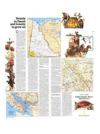 Yukon Territory Map Giclee