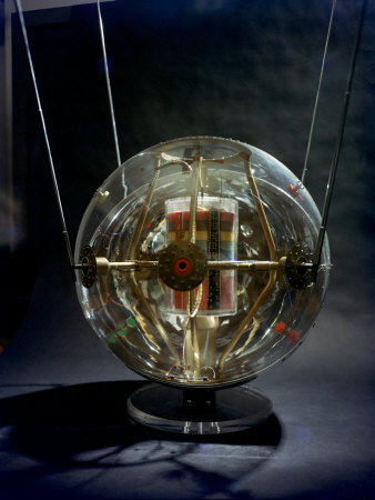 Model of Earth Satellite Created at Naval Research Lab Shows How Instruments Will Be Stacked Stretched Canvas Print