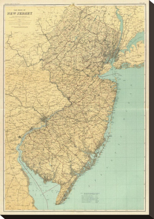 maps of new jersey state. New Jersey State Map,