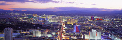 Dusk Las Vegas Nv, USA Stretched Canvas Print