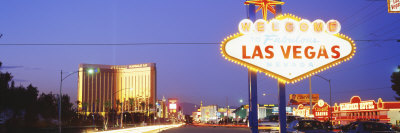Welcome Sign Las Vegas, NV Stretched Canvas Print