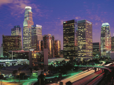 Los Angeles, California Stretched Canvas Print