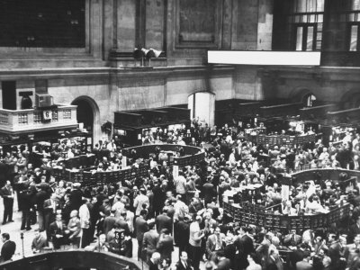 The New York Stock Exchange Stretched Canvas Print