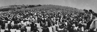 Audience at Woodstock Music Festival Stretched Canvas Print