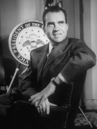 Richard M. Nixon at the White House Stretched Canvas Print