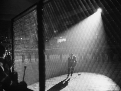 Hockey Game Being Held in the Spokane Colliseum Stretched Canvas Print