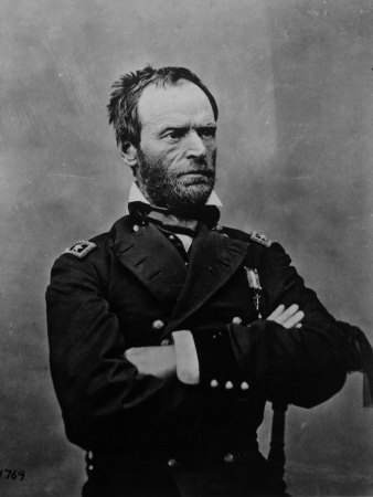 Portrait of William Tecumseh Sherman, Union General During the Civil War Stretched Canvas Print