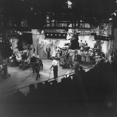 "Overall View of Production Scene from TV Series ""I Love Lucy,"" Showing the Nightclub Stretched Canvas Print"