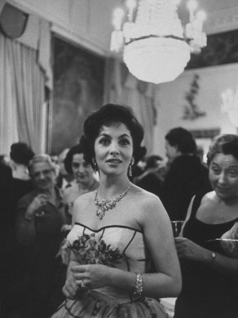 Gina Lollobrigida During Her Visit Stretched Canvas Print