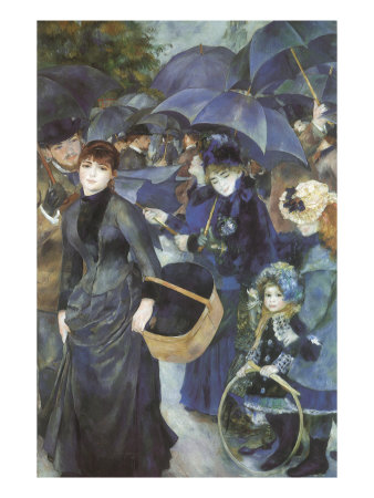 Umbrellas, 1883 Giclee Print by Pierre-Auguste Renoir at Art.com