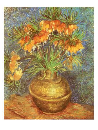 flowers in vase van gogh. Copper Vase with Flowers,